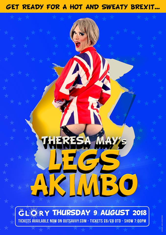 Fagulous as Theresa May Drag Queen Theresa May's Legs Akimbo